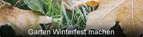 Themenwelt Garten Winterfest machen