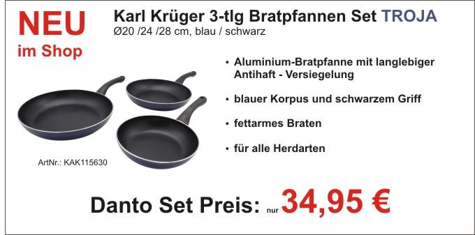 Karl Krüger Pfannenset Troja