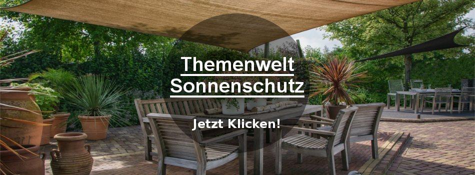 Banner für die Themenwelt Sonnenschutz