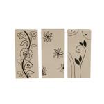 1 Stück Kamino Trend (820625) Heizungsverdunster, Heizkörperverdunster, Luftbefeuchter, Blütenmotive, Maße: ca. 9,5 x 4 x 20 cm