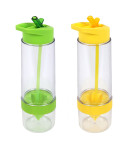 2er Set culinario Trinkflasche Fruit, BPA-frei, je 650 ml Inhalt, in grün und gelb