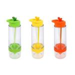 3er Set culinario Trinkflasche Fruit, BPA-frei, je 650 ml Inhalt, in grün, gelb und orange