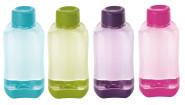 4er Set culinario Trinkflasche Tetris, BPA-frei, 500 ml Inhalt, blau, grün, lila und pink