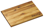 """6 Stück Kesper Brotzeitbrett mit Einbrand """"Brotzeit"""", rechteckig, 30 x 20 x 1 cm, FSC-zertifiziertes Akazienholz, Schneidebrett, Präsentationsplatte"""