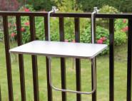 ALCO Balkonhängetisch 60x40 weiß Kunststoffplatte