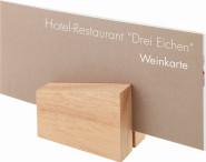APS 2 Kartenhalter ca. 8,5 x 6,2 cm, Höhe 4,5 cm Holz, senkrecht und waagerecht verwendbar