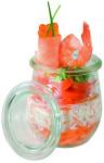 APS 24er Set Weck-Glas mit Deckel Mini-Sturz-Form 220 ml, Tulpe ca. Durchmesser 7 cm, Höhe 8 cm 12 Gläser + 12 Deckel