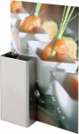APS 2er Set Tischkartenhalter ca. 8,5 x 4,2 cm, Höhe 4,2 cm Edelstahl, mattiert, senkrecht und waagerecht verwendbar