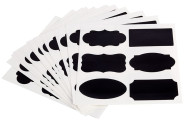 APS 72 Beschriftungskarten aus PVC, selbstklebend, 12 Bögen mit je 6 Motiven