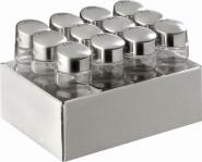 APS Allzweckstreuer, 12er Set, Behälter aus Glas, je Ø 3 cm, H: 9 cm