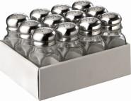 APS Allzweckstreuer, 12er Set, Behälter aus Glas, je 4 x 4 cm, H: 10 cm