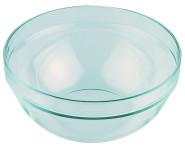 APS Arcoroc Glasschale, Durchmesser ca. 23 cm, Fassungsvermögen 2,5 Liter, 1 Stück