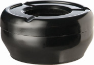 APS Aschenbecher ca. Durchmesser 9,5 cm, H: 4,3 cm Melamin, schwarz stapelbar