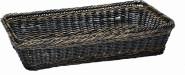 APS Basket L - GN 1/1 ca. 53 x 32,5 cm, Höhe 10 cm Polyrattan, dunkelbraun mit Edelstahldraht wasserfest stapelbar, unzerbrechlich by SIEGER DESIGN