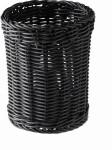 APS Besteck-Korb, Polypropylen, schwarz, Ø 12 cm, H: 15 cm
