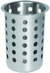 APS Besteckköcher Edelstahl ca. Durchmesser 9,7 cm,Höhe 13,7 cm Köcher für Besteckbehälter mattiert
