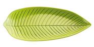 APS Blattschale -NATURAL- 45 x 24 cm, H: 3 cm Melamin, grün spülmaschinenfest nicht mikrowellengeeignet