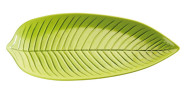 APS Blattschale -NATURAL- 53 x 29 cm, H: 3,5 cm Melamin, grün spülmaschinenfest nicht mikrowellengeeignet