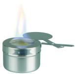 APS Brennpastenbehälter ca. Durchmesser 9 cm, Höhe 6 cm Edelstahl auch für Brennplatte mit Loch