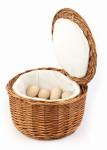 APS Brot- und Eierkorb aus natürlicher Vollweide,  Ø 26 cm x 17 cm, für ca. 20 Eier