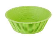 APS Brot- und Obstkorb oval aus Polypropylen in grün, Ø 20 cm, H: 6,5 cm