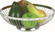 APS Brot- und Obstkorb rund Durchmesser 20 cm, 18/8 Edelstahl stapelbar, spülmaschinenfest ideal für Obst und Brötchen