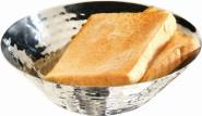 APS Brot- und Obstschale Durchmesser 16 cm, H: 5 cm Edelstahl, poliert Hammerschlag Optik