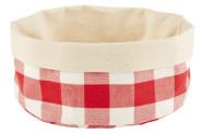 APS Brottasche aus Baumwolle, ø 20 x 9 cm, in weiß/rot kariert