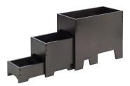 APS Buffetgestell, 3-tlg, Höhe 33 cm, aus Holz, Farbton: Wenge, Maße der Fächer: 40 x 20 x H33 cm / 40 x 17 x H21 cm / 40 x 14,5 x H9 cm