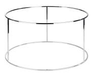 APS Buffetständer -ASIA PLUS- aus Metall, Ø 48,5 cm, Höhe 27 cm, verchromt, mit 3 Streben