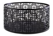 APS Buffetständer / -korb aus Edelstahl, schwarz, Ø 21 cm, Höhe: 10,5 cm