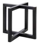 APS Buffetständer -WOOD- aus Holz, schwarz, 20 x 20 x 17,5 cm