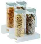 APS Cerealien-Bar 3-tlg. ca. 26 x 15,5 cm, Höhe 4 cm 1 Ständer, Plexiglas gefrostet 2 Cerealienkaraffen, 1,5 Liter