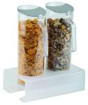 APS Cerealien-Bar 3-tlg. ca. 26 x 15,5 cm, Höhe 8 cm 1 Ständer, Plexiglas gefrostet 2 Cerealienkaraffen, 1,5 Liter