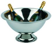 APS Champagner Kühler ca. Ø 45 cm, Höhe 23 cm Edelstahl poliert Rand mattiert