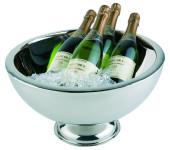 APS Champagnerkühler aus Edelstahl, doppelwandig, Ø 44 x 24 cm, 10,5 Liter