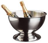 APS Champagnerkühler ca. Durchmesser 37 cm, Höhe 24 cm Edelstahl poliert 13,5 Liter Inhalt