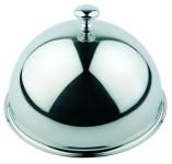 APS Edelstahl-Glocke ca. Durchmesser 28 cm, Höhe 18 cm Edelstahl außen hochglanzpoliert, innen mattiert