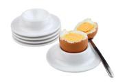 APS Eierbecher, 4er Set Durchmesser 8,5 cm, H: 2 cm Melamin, weiß, stapelbar 1A Qualität, original Melamin spülmaschinenfest