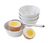 APS Eierbecher aus weißem Melamin im 4er Set mit einem Ø von 8 cm und 3 cm Höhe