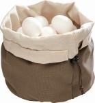 APS Eiertasche, Brottasche mit Kirschkernkissen, Baumwolle, beige / braun, Ø 20 cm H: 23,5 cm