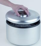 APS Eisbox Durchmesser 18,5 cm, Höhe 20 cm Volumen 5 Liter Aluminium eloxiert Innenbehälter aus Kunststoff
