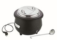 APS Elektrischer Suppenwärmer ca. Durchmesser 40 cm, Höhe 37 cm, 10 Liter 200-240 V, 400-450 Watt, 1,8-1,9 A Edelstahl Deckel