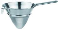 APS Gazespitzsieb ca. Durchmesser 24 cm, Stiellänge 25 cm Edelstahl,mit rundem Hohlgriff mit Haken