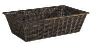 APS GN 1/1 Korb -SUPERSTRONG- aus Kunststoff, 53 x 32,5 cm, Höhe 15 cm, Brotkorb mit Edelstahldraht im Rand, schwarz/braun