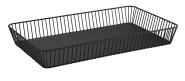 APS GN 1/1 Korb -URBAN- aus Metall, 53 x 32,5 cm, Höhe 7,5 cm, Antirutsch-Füßchen, Gebäckschale, Brotkorb, Obstschale, Obstkorb, matt-schwarz