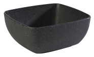 APS GN 1/6 Schale -FRIDA STONE- aus Melamin, 17,6 x 16,2 cm, Höhe 7,5 cm, in Steinoptik/schwarz