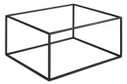 APS GN Buffetständer -ASIA PLUS- aus Metall, schwarz, 32,5 x 26,5 x 16,2 cm