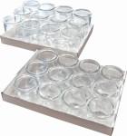 APS Gourmet-Gläser, 12er Set, bestehend aus: 12 Gläsern, Ø 6 cm, H: 5 cm, 0,1 Liter