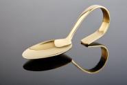 APS Gourmet-Löffel CLASSIC Edelstahl, Gold-Look, Länge: 12 cm